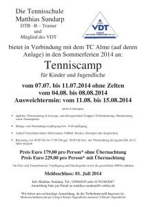 Angebot und Anmeldung zum Tenniscamp 2014-001